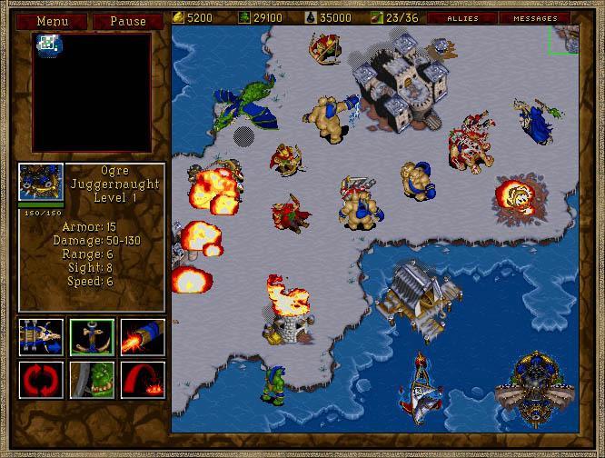 Screenshot de Warcraft 2 : Tides of Darkness.