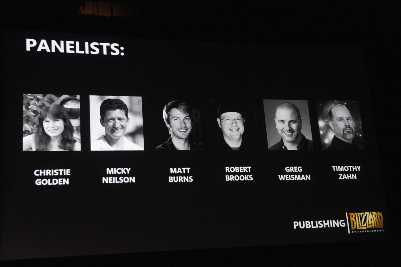 Photo prise lors de la conférence dédiées aux romans de Blizzard à la BlizzCon 2016.