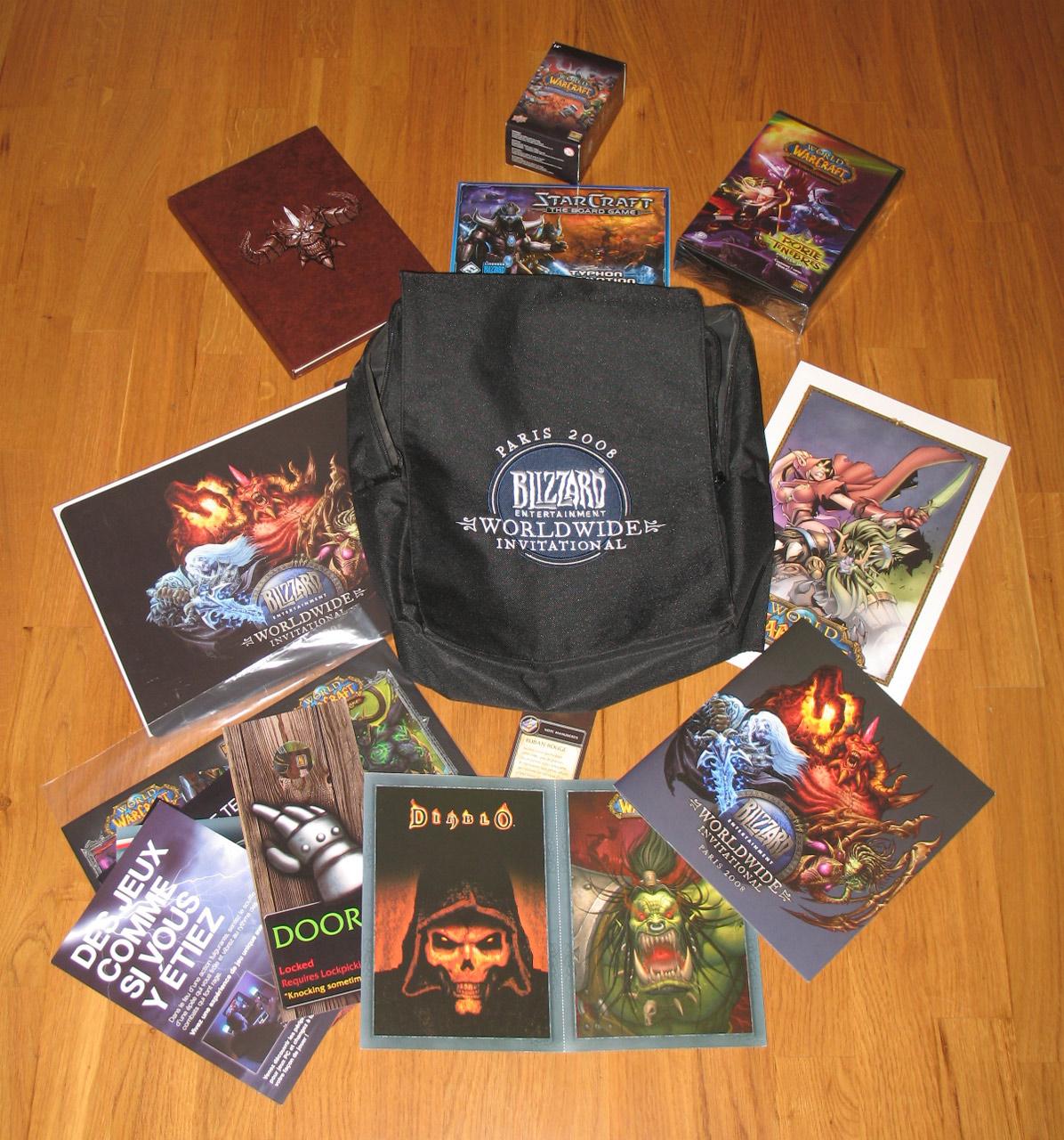 Pack de bienvenue offert à tous les visiteurs du Worldwide Invitational 2008.